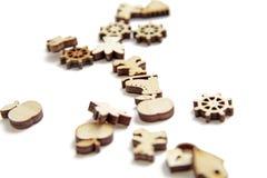 La miniatura calcola il legno di taglio del laser fotografia stock libera da diritti