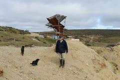 La miniera d'oro sull'isola di Tierra del Fuego Fotografia Stock Libera da Diritti