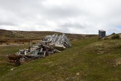 La miniera d'oro sull'isola di Tierra del Fuego Fotografie Stock