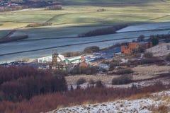 La miniera di carbone della torre, era l'ultima miniera di carbone in sotterraneo in Galles, parenti uniti immagine stock