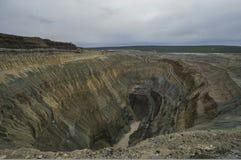 La miniera diamontiferous Immagini Stock
