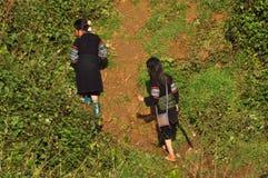 La minoranza etnica di Hmong scherza il gioco nell'all'aperto Fotografia Stock