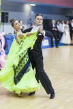 La Minsk-Bielorussia, il 23 febbraio: La coppia non identificata di ballo esegue Fotografia Stock Libera da Diritti