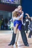 La Minsk-Bielorussia, il 19 ottobre 2014: Coppie non identificate Perfo di ballo Immagini Stock Libere da Diritti