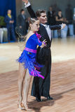 La Minsk-Bielorussia, il 19 ottobre 2014: Coppie non identificate Perfo di ballo Fotografie Stock Libere da Diritti
