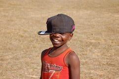 La mirada en las caras de los niños de África - pueblo Pomeri Fotos de archivo libres de regalías