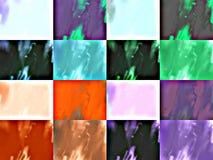 La miscela colora le strutture Immagini Stock