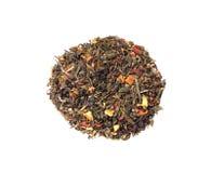 La miscela del nero e del tè verde Fotografie Stock