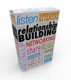 La mise en réseau de conseil de boîte de produit de bâtiment de relations élèvent vos Bu illustration stock