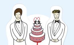 La misma boda del sexo Imagen de archivo libre de regalías
