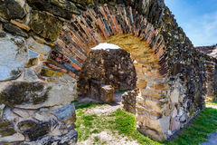 La mission espagnole historique Espada, le Texas photos libres de droits