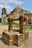 La mission San Jose y San Miguel de Aguayo à San Antonio, le Texas photographie stock