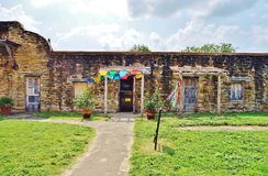 La missione San José y San Miguel de Aguayo a San Antonio, il Texas fotografie stock libere da diritti