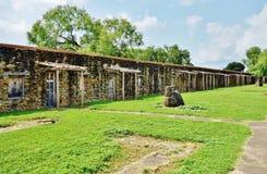 La missione San José y San Miguel de Aguayo a San Antonio, il Texas fotografia stock