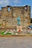 La missione San José y San Miguel de Aguayo a San Antonio, il Texas immagini stock