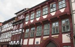 La mitad enmaderó ciudad-Göttingen fachada-YO-histórica Imagen de archivo libre de regalías