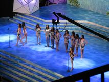 La Mlle 2014 Earth Philippines Pageant images stock