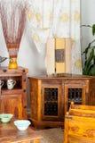 Mobilia di legno antica Fotografie Stock