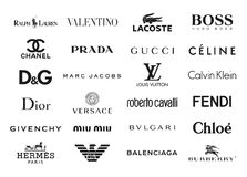 La moda califica logotipos Imagen de archivo