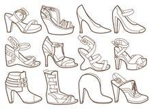 La moda calza la colección stock de ilustración
