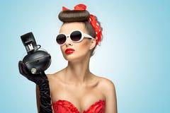 La moda de los auriculares. Fotos de archivo libres de regalías