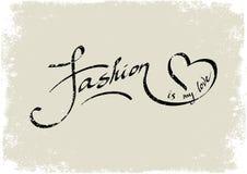 La moda es mi amor deletreado Fotografía de archivo libre de regalías