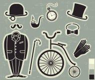 La moda y los accesorios de los caballeros Fotos de archivo libres de regalías
