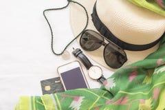 La mode de fond de la femme préparent le voyage Photo libre de droits