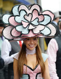 La mode des femmes aux courses royales de foulard  Image stock