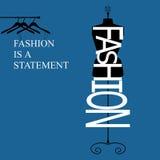 La mode est une déclaration Images stock
