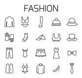 La mode a rapporté l'ensemble d'icône de vecteur illustration libre de droits
