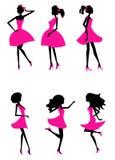 La mode silhouette des filles Photos libres de droits