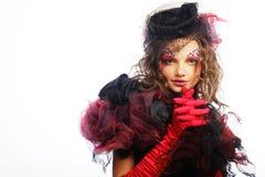 La mode a tiré de la femme dans le type de poupée Image stock