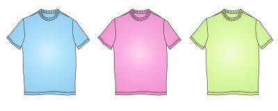 La mode vêtx l'illustration de formes de T-shirt Photographie stock libre de droits