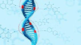 La modifica biologica GMO del gene di ingegneria geneticamente ha modificato l'organismo Concetto del DNA di progettazione Priori royalty illustrazione gratis
