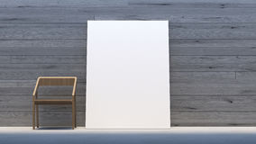 La mofa mínima del interior encima de la galería/3d del marco del cartel rinde imagen Foto de archivo