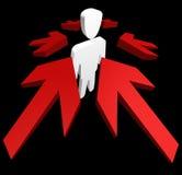 La moi d'homme accusent le conept Image libre de droits