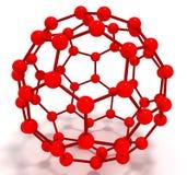 La molécula fulleren Fotos de archivo libres de regalías