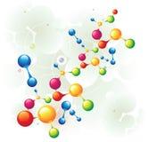 La molécula mezcló dos stock de ilustración