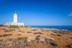 La Mola Cape Lighthouse Formentera fotografia stock libera da diritti