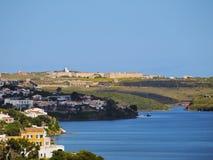 La Mola Fortress i Mahon på Minorca Royaltyfri Fotografi