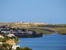 La Mola Fortress in Mahon op Minorca Royalty-vrije Stock Fotografie