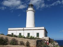 La Mola Lighthouse, the island of Formentera, Balearic Islands, Spain Royalty Free Stock Photography