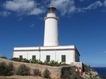 La Mola Lighthouse, l'île de Formentera, Îles Baléares, Espagne photographie stock libre de droits