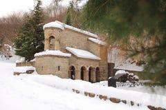 La molla in monastero della st Nino a Bodbe nell'inverno Fotografia Stock