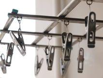 La molletta da bucato d'acciaio fotografia stock libera da diritti