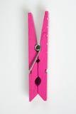 La molletta per il bucato rosa con i modelli di divertimento ha lanciato la vista superiore Fotografie Stock Libere da Diritti