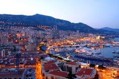 La Monaco alla notte immagine stock