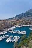 La Monaco e barche Fotografie Stock Libere da Diritti