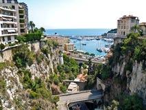 La Monaco, vista per port Hercule Immagini Stock